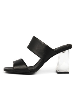JOSSY Heeled Sandals in Black Leather