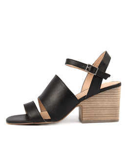 BANQUET Heeled Sandals in Black Leather