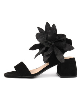 WYNELL Heeled Sandals in Black Suede