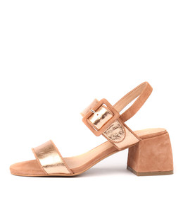 WOWERS Heeled Sandals in Rose Gold/ Multi Leather