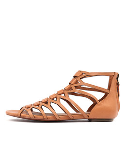 PILLY Sandals in Dark Tan Leather