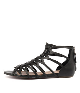 PILLY Sandals in Black Leather