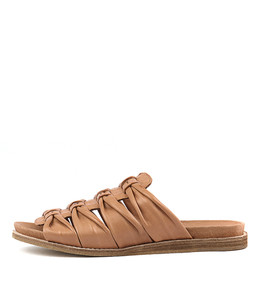 HELMLY Sandals in Dark Tan Leather