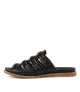 HELMLY Sandals in Black Leather