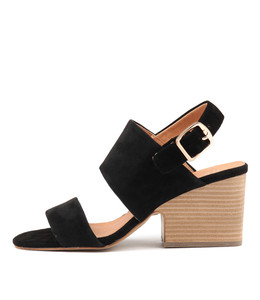 BRETHA Heeled Sandals in Black Suede