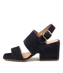 ARETHA Heeled Sandals in Navy Suede