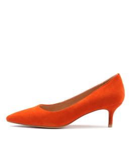 CERTAIN High Heels in Orange Suede