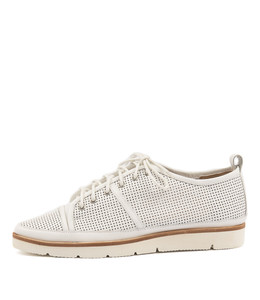EXCESS Lace-up Sneakers in White Leather
