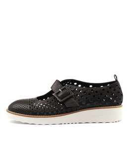 ODLING Flatforms in Black Leather