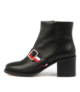 NILES Ankle Boots in Black Leather