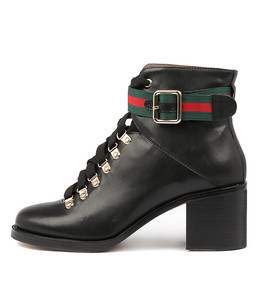 NILDA Ankle Boots in Black Leather