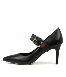 BESSY High Heels in Black Leather