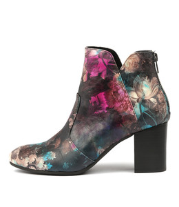 UPCLIMB Ankle Boots in Floral Multi Leather