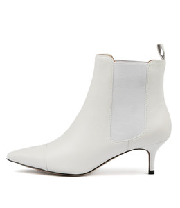 CIELO Ankle Boots in White Leather