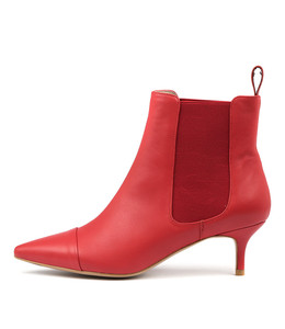 CIELO Ankle Boots in Red Leather