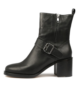 NIKKO Ankle Boots in Black Leather
