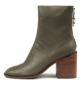 DANNY Ankle Boots in Olive Leather