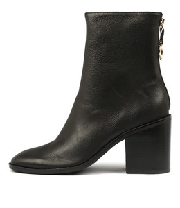 DANNY Ankle Boots in Black Leather