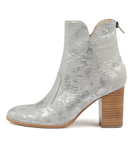 ABBIE Ankle Boots in Misty Floral Print Leather