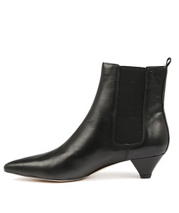 CATHY Ankle Boots in Black Leather