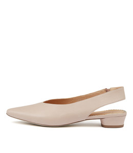 SHENA Flats in Pale Pink Leather
