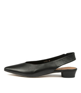 SHENA Flats in Black Leather