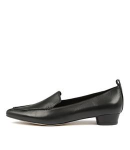 SHANA Flats in Black Leather