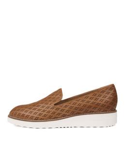 OPOD Flatforms in Tan Leather