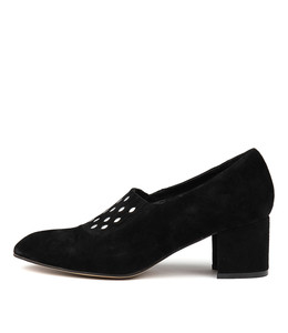 TALAN Mid Heels in Black Suede