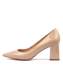 RONDOL High Heels in Nude Patent Leather