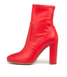 SAMALA Ankle Boots in Red Stretch