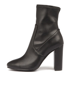 SAMALA Ankle Boots in Black Stretch