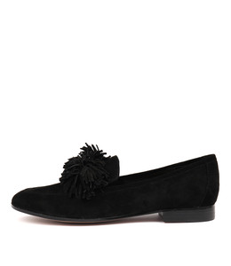 LEANA Flats in Black Suede