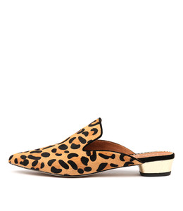 SHUBAHS Flats in Ocelot Pony Hair