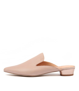 SHUBAHS Flats in Pale Pink Leather