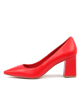 RONDOL High Heels in Red Leather