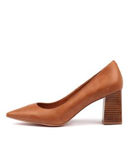 RONDOL High Heels in Tan Leather