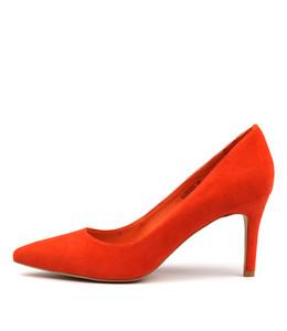 BARRIOS High Heels in Orange Suede