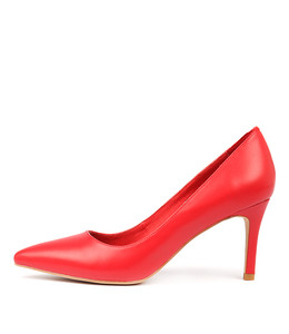 BARRIOS High Heels in Red Leather