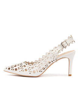 BECKETS High Heels in White Leather