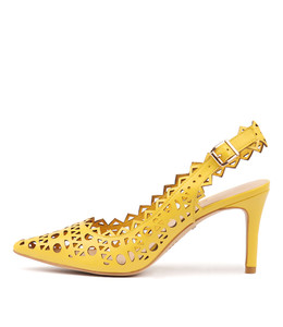 BECKETS High Heels in Yellow Leather