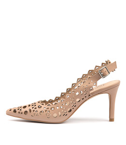 BECKETS High Heels in Dark Nude Leather