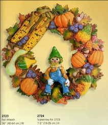 Fall Harvest wreath with scarecrow