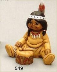 Little Indian Drummer boy with drum and drumstick