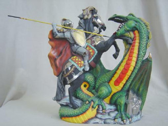 Doc Holliday Dragon and Knight - Ready to Paint