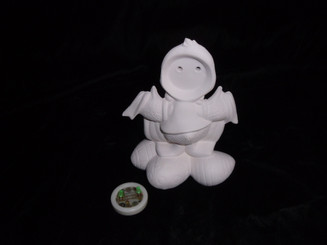 I love Easter blinkie duck ceramic bisque ready to paint 5x3""