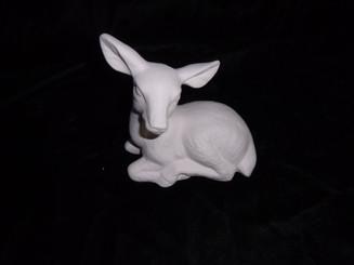 "Ceramic bisque doe deer 4x4"" appx"