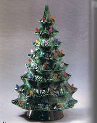 "Duncan Christmas Tree 8 3/4"" High - ready to paint - With Light Holes"