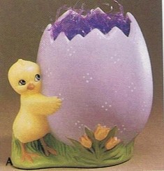 Easter chick  with egg duncan 271 about 4 5/8 tall ready to paint