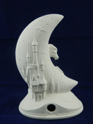 Mystical Castle and Horse Moon Night Light w Small Defect